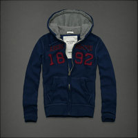 hommes jacket hoodie abercrombie & fitch 2013 classic x-8022 lumiere bleu saphir