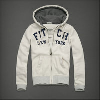 hommes jacket hoodie abercrombie & fitch 2013 classic x-8039 blanc casse