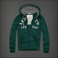hommes jacket hoodie abercrombie & fitch 2013 classic x-8040 vert fonce