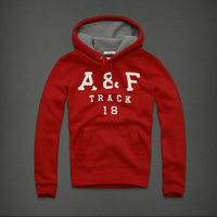 hommes jacket hoodie abercrombie & fitch 2013 classic t66 rouge