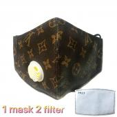 louis vuitton breathing mask men women population lv flower