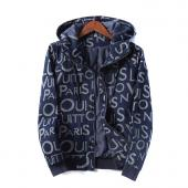 man jacket bomber louis vuitton pas cher blue zipper hoodie