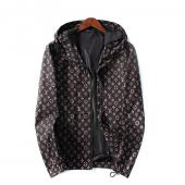 man jacket bomber louis vuitton pas cher brown monogram lv hoodie
