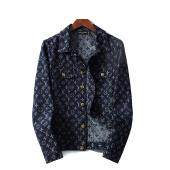 man jacket bomber louis vuitton pas cher flower monogram blue button