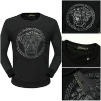 man jacket versace long sleeve sweater big mark black
