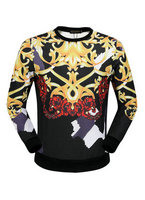 man jacket versace long sleeve sweater col round