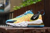 nike air max 270 react eng blue gold yellow wave