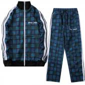 palm angels jogging suit discount Tracksuit grid blue