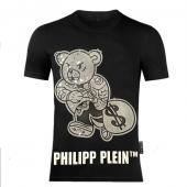 philipp plein t shirt homme outlet teddy bear logo dollar black