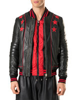 philippe plein blouson croco 2017 embroidered stars rouge