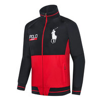 ralph lauren jacket chauffante sport black red