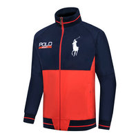 ralph lauren jacket chauffante sport polo orange