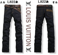 strap lv louis vuitto exquisite brand jeans noir gold