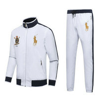 Tracksuit polo sport windproof established 1967 blanc