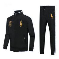Tracksuit polo sport windproof established 1967 noir