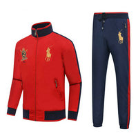 Tracksuit polo sport windproof established 1967 rouge