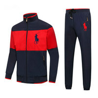 Tracksuit polo sport windproof big pony rouge