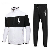 Tracksuit polo sport windproof mid noir