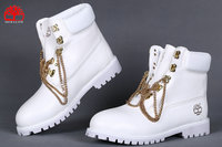 timberland shoes de ville ou baskets chain boots blance