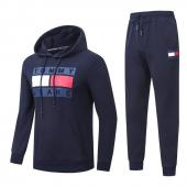 tommy hilfiger Tracksuit homme hoodie flag mode gray blue