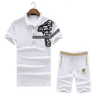 versace Tracksuit manches courtes collection medusa leather logo