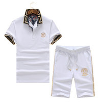 versace Tracksuit manches courtes collection palace flower blanc