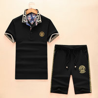 versace Tracksuit manches courtes collection palace flower collar