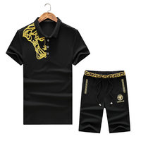 versace Tracksuit manches courtes collection right broderie medusa