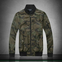 jacket armani jeans lurex col rond army camouflage