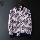 jacket versace homme jacket pas cher stripe blue