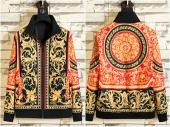 jacket versace homme solde pas cher gold baroque flower